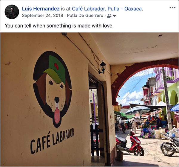Love for Coffee. Café Labrador